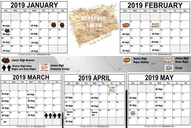 Calendar Spring 2019